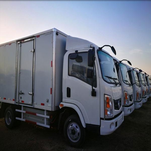 纯电动轻卡厢式运输车 东风特汽